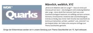 WDR quarks Umfrage Ergebnis - Sendung 10.April 2018 v1