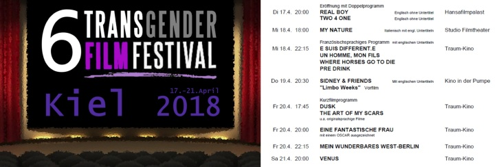 Transgender Film Festival 2018 Kiel Germany v2.04 queer mit Text