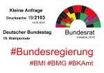 Bundestag Drucksache 192103 Bundesrat Initiative 2018 Dritte Geschlechts-Option Transsexuellengesetz TSG SGB IGM-Verbot v1.02