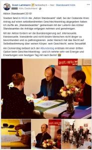 2018-10-09 Aktion Standesamt 2018 Köln Cologne