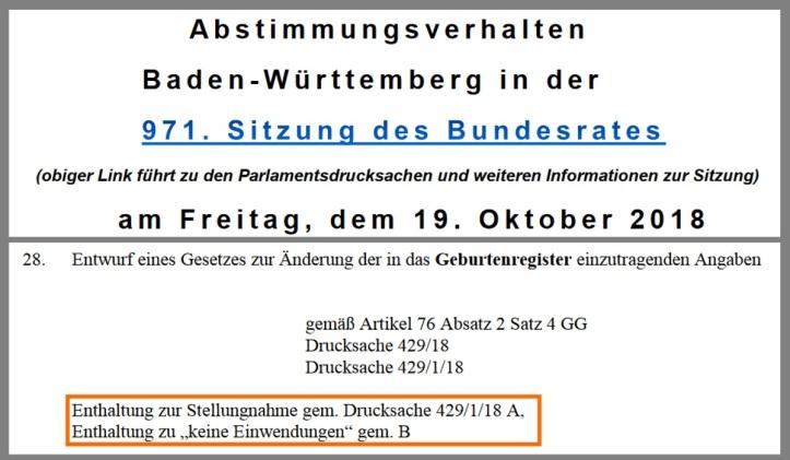 Baden Württemberg Abstimmungsverhalten_BW_Bundesrat_971 v1.02