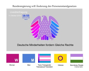 Deutscher Bundestag - Bundesregierung will Änderung des Personenstandsgesetzes Liveübertragung Donnerstag 11 Oktober 2018 v3.05 2Zeitverschiebung