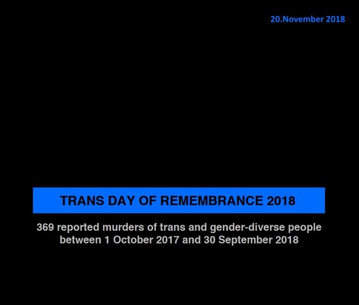 TDoR Trans Day of Remembrance 2018 - 20 November 2018 - 11-20-2018 v1.02